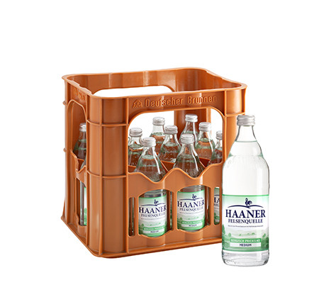 HAANER Felsenquelle Medium 12x0,5l Glas (MEHRWEG)